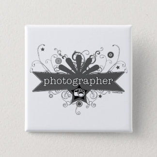 Photographer Carnival-Style 2 Inch Square Button