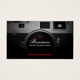 Photographer Classic Camera Modern Photography Business Card