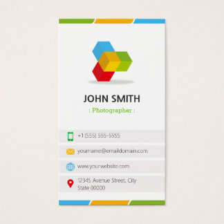 Photographer - Colorful with QR Code Business Card