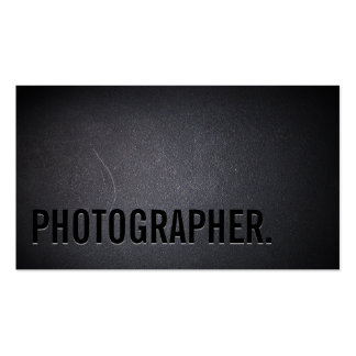 Photographer Cool Bold Text Professional Dark Pack Of Standard Business Cards