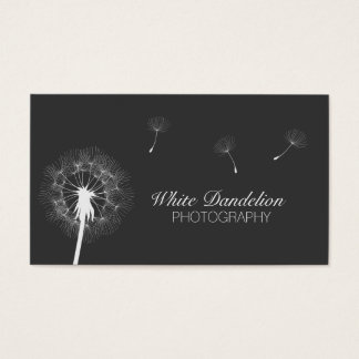 Photographer Dark Gray Dandelion Photography Business Card