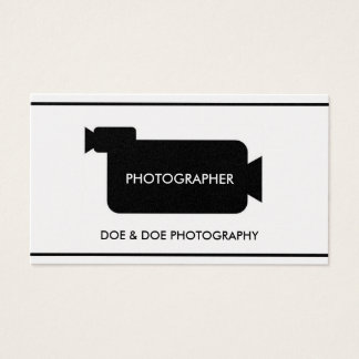 Photographer Filmmaker Photography Gold Paper Business Card