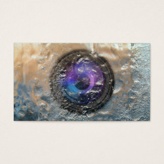 Photographer Frozen Camera Lens Photography Business Card