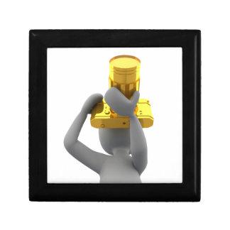 photographer golden camera trinket box