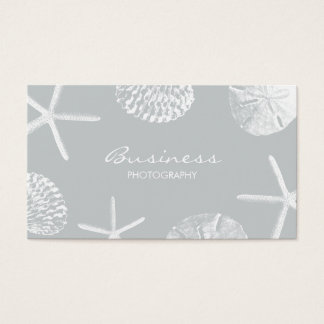 Photographer Gray Beach Seashells Photography Business Card