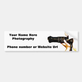 Photographer Holding DSLR Camera Bumper Sticker