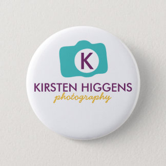 Photographer in Bloom Packaging Button