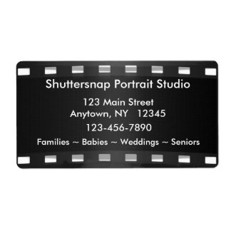 Photographer Label Shipping Label
