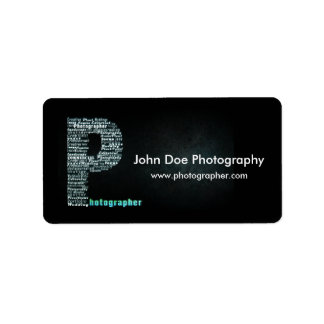 Photographer logo Business label sheet 1