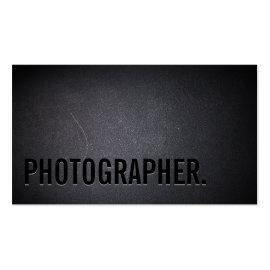 Photographer Minimalist Bold Text Photography