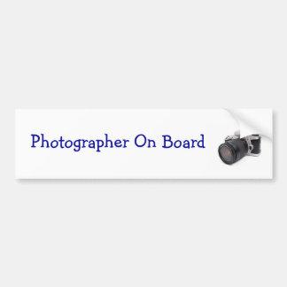 Photographer On Board - Bumper Sticker