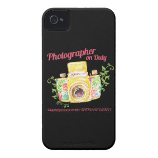 Photographer on Duty vintage camera design iPhone 4 Case