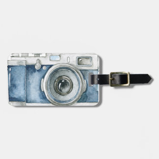 Photographer on Duty vintage camera design Luggage Tag