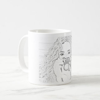 Photographer- Pencil Effect Coffee Mug