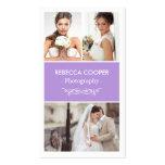 Photographer Photo Showcase - Chic Lavender Purple Business Card