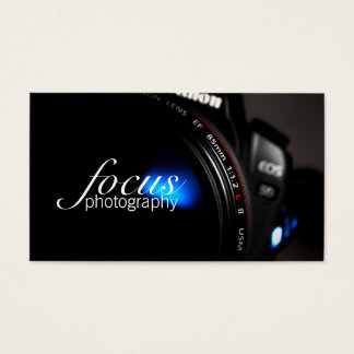 Photographer Photography Camera Lens Portrait Business Card