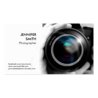 Photographer Photojournalist Camera Lens Studio Business Card