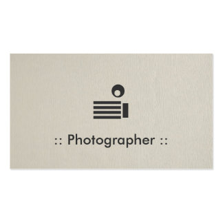 Photographer Simple Elegant Professional Business Card