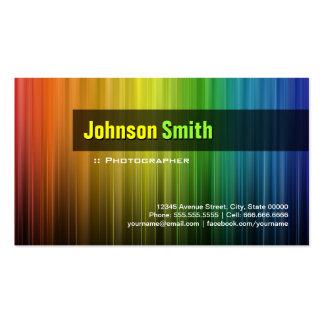 Photographer - Stylish Rainbow Colors Business Card
