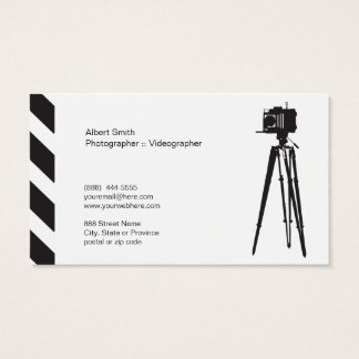 Photographer - Videographer ı business card