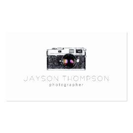 Photographer Vintage Camera Illustration Logo