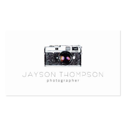 Photographer Vintage Camera Illustration Logo Business Cards