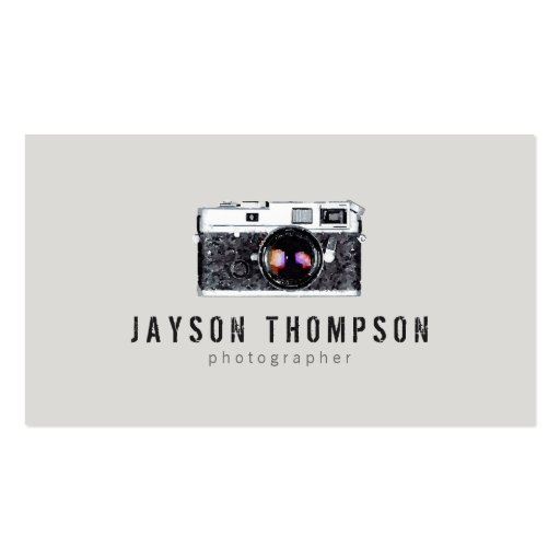 Photographer Vintage Camera Illustration Logo II Business Card Templates