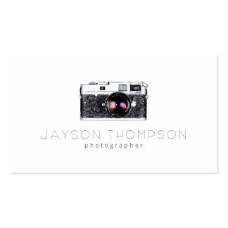 Photographer Vintage Camera Illustration Logo Pack Of Standard Business Cards