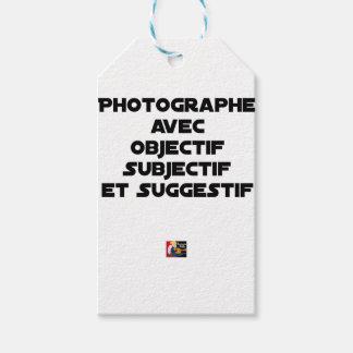 Photographer with subjective and suggestive gift tags
