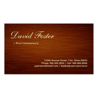Photographer - Wood Grain Look Business Card
