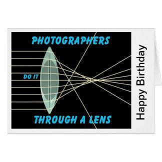 photographers do it thru a lens card