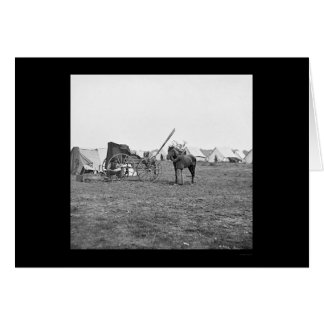 Photographer's Equipment Wagon in Cold Harbor 1864 Greeting Card