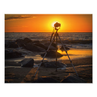 Photographer's Office at the Beach Photographic Print