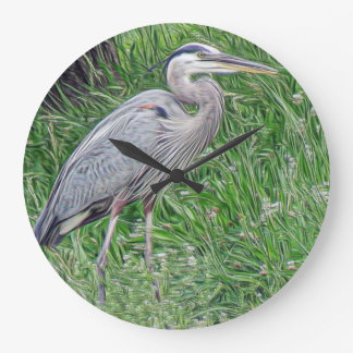 Photographic Art Great Blue Heron Large Clock