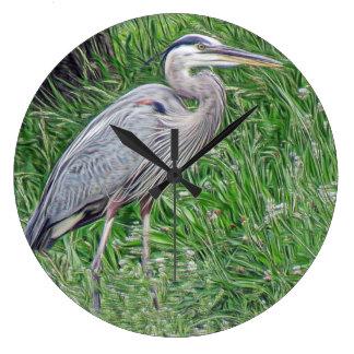 Photographic Art Great Blue Heron Wall Clock
