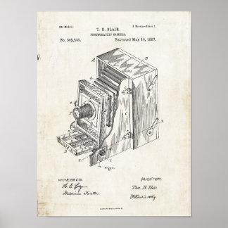 Photographic Camera 1887 Patent Print