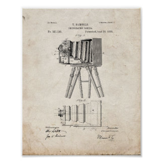 Photographic Camera Patent - Old Look Poster