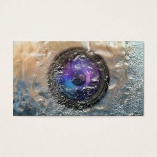 Photographie congelée par photographe d'objectif cartes de visite