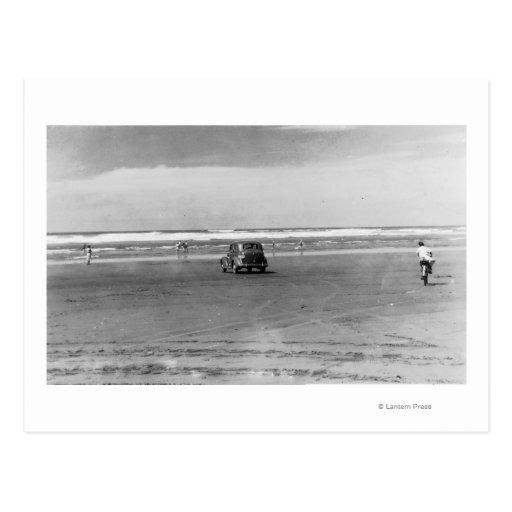 Photographie de scène de plage de l'océan carte postale