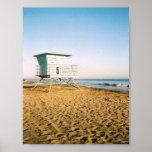 Photographie de vue de plage de la Californie sur  Poster