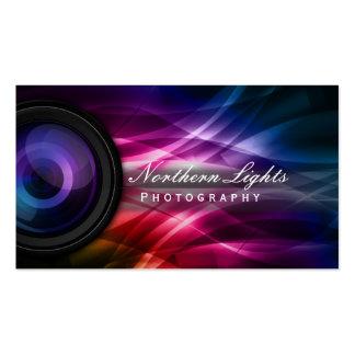 Photographie d'objectif de caméra et d'aurore de carte de visite standard