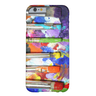 Photographie en cours de pinceau d'arcs-en-ciel coque barely there iPhone 6