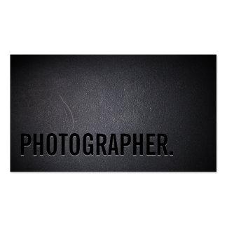 Photographie minimaliste de caractères gras de carte de visite standard