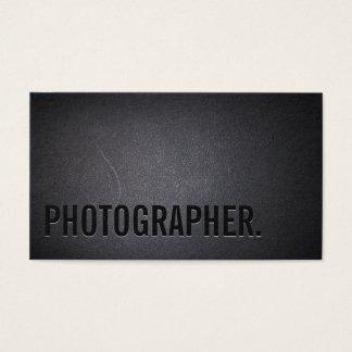 Photographie minimaliste de caractères gras de cartes de visite