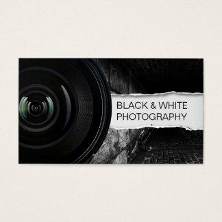 Photographie noire de photographe et blanche cartes de visite