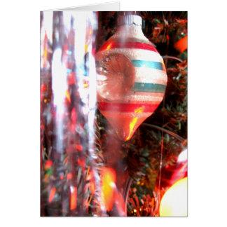 Photographie très vintage d'ornement de Noël Carte De Vœux