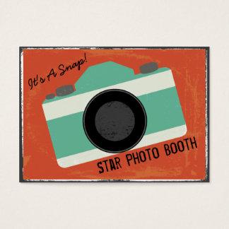 Photographie vintage moderne de cabine de photo cartes de visite