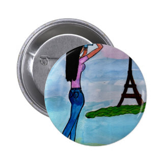 Photographing the Eiffel 2 Inch Round Button