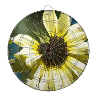 Photographs of a Sunflower on a T Shirts Dartboard