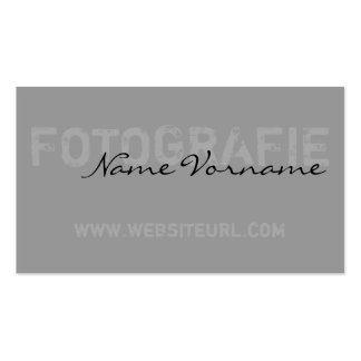 photography pack of standard business cards
